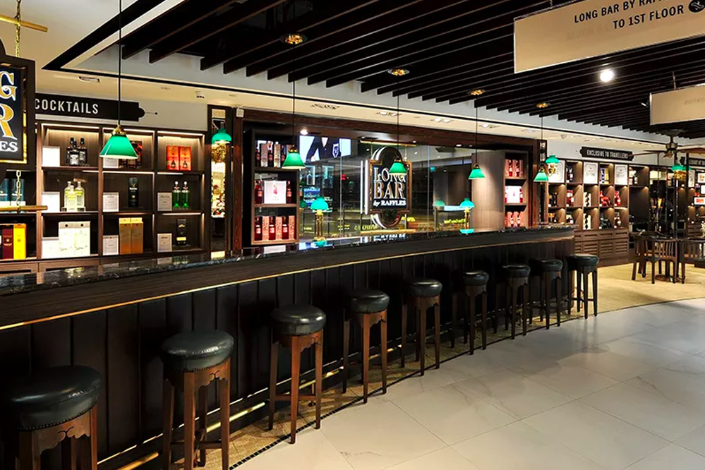 Long Bar by Raffles, DFS Wine & Spirits Duty-free Store